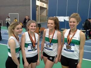 U15G Team of Emily Newsham, Rebecca Woolley, Emma Burley and Sanna McLean