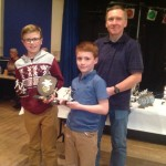 Josh White (L) and Zak Galvin Proudly show their awards for 1st Team U11