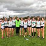 Joe Galvin with the U17 and Senior Ladies